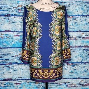 Sunny Leigh Beautiful Blue Paisley SZ Med